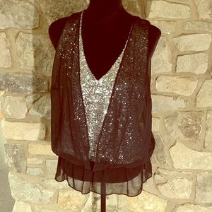 INC International Concepts Tops - Glam ✨INC Sleeveless Concepts Sequined Chiffon Top
